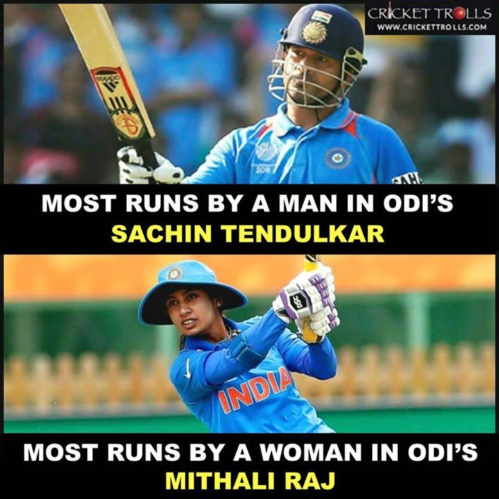 Indian domination in ODI cricket : Sachin Tendulkar & Mithali Raj For more cricket fun click: http://ift.tt/2gY9BIZ - http://ift.tt/1ZZ3e4d