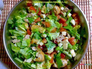 Salata din piept de pui cu crutoane, Poza 3