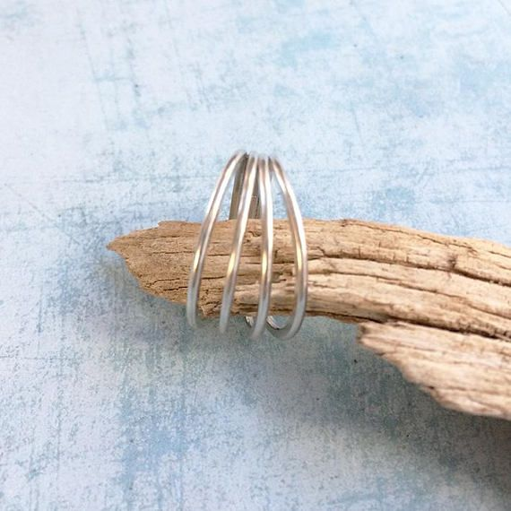 Sterling silver 4 Rings ring  Circles ring. Handmade by Carla Amaro