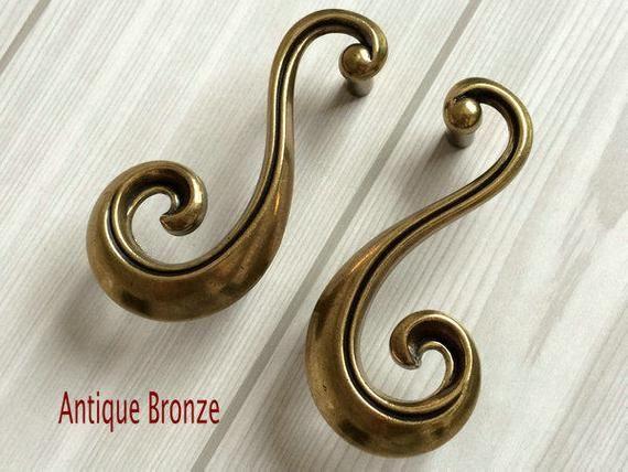 2 3 8 Cabinet Handles Pulls Silver White Antique Bronze Etsy