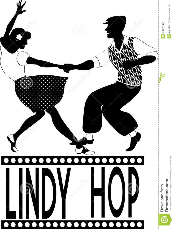 Lindy Hop Silhouette Stock Vector - Image: 44228471