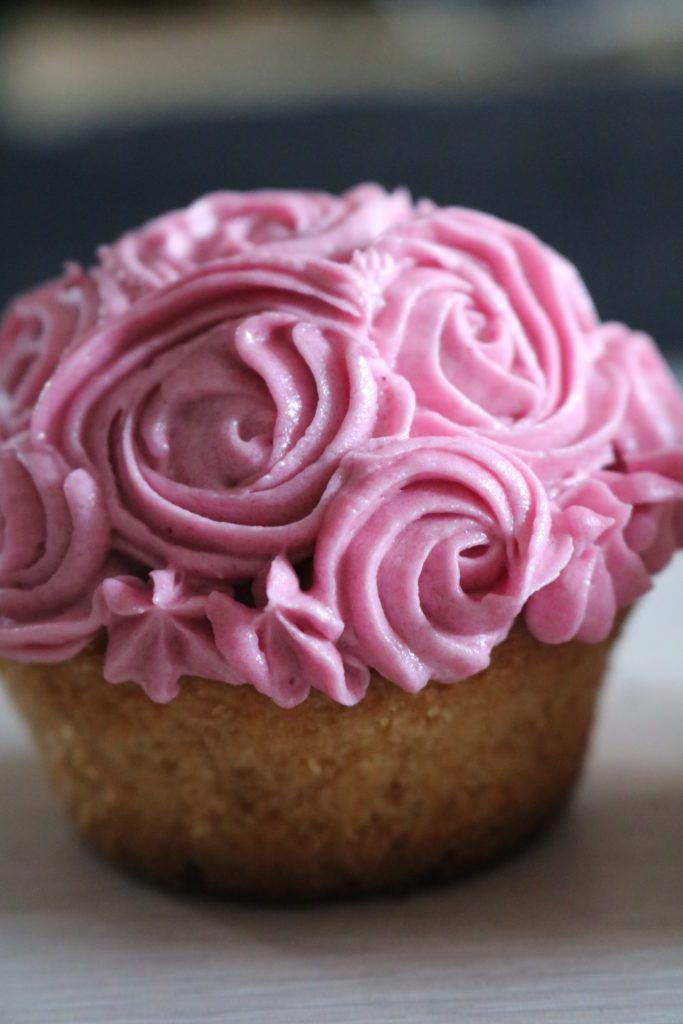 Swirl Rose Decorated Cupcake