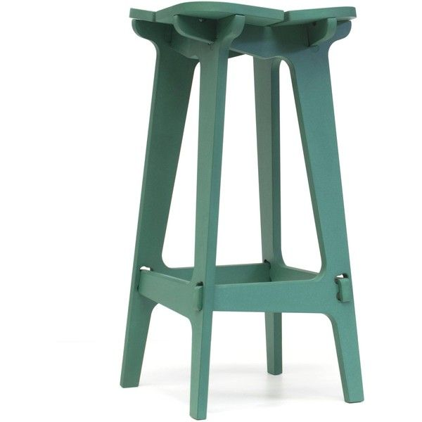 Fabrikoos Kruk - barstool (coloured MDF) - Mint Green ($255) ❤ liked on Polyvore featuring home, furniture, stools, barstools, black, pale green stool, mint green furniture, black counter stools, traditional bar stools and soft green stool