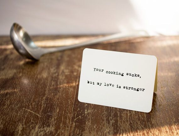 Funny card Your cooking by Flexiwood on Etsy