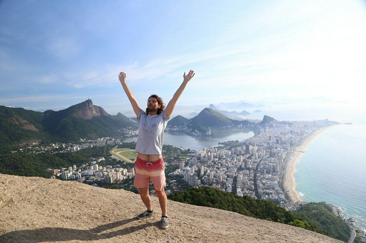 Climbed up to the top of Dois Irmãos mountain in Rio yesterday. For those who have been this is the distinctive rocky mountain you see at the end of Ipanema/Leblon beach. Its not the longest hike but it was straight up in 37 degree heat and you have to pass through Vidigal favela on the way up and down.