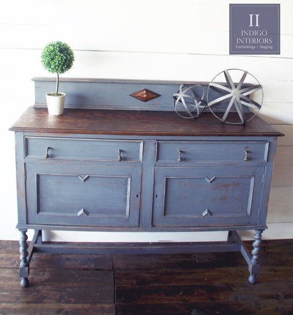 Vintage Farmhouse Style Distressed Light Charcoal Gray