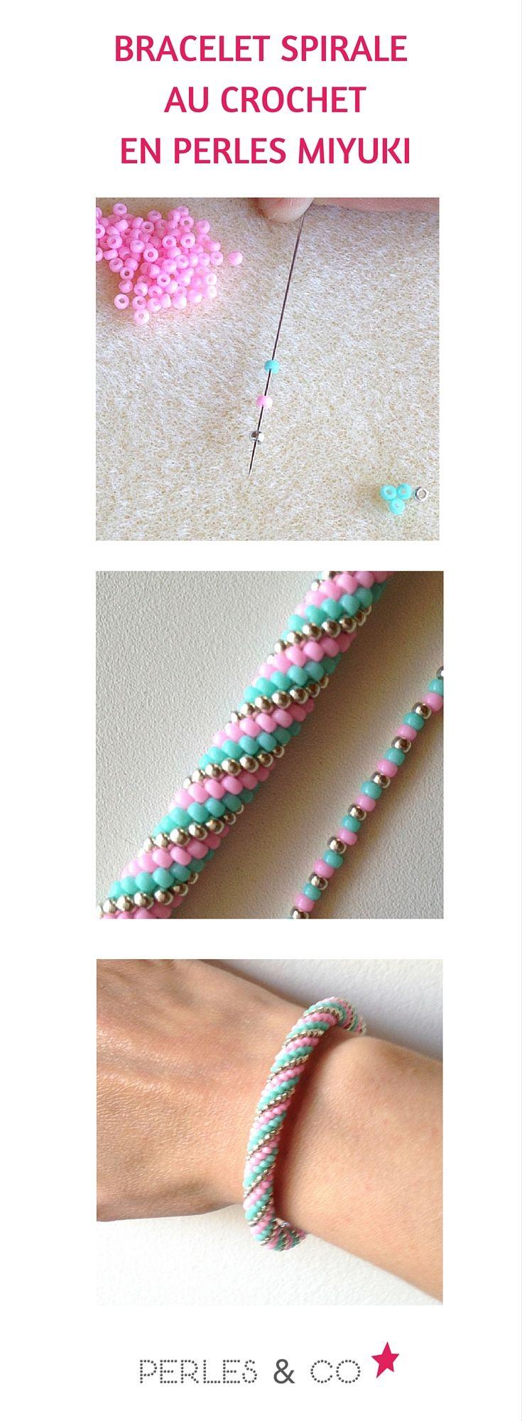 Réalisez ce bracelet spirale au crochet avec des perles Miyuki grâce au tutoriel de Perles and Co.  https://www.perlesandco.com/Bracelet_spirale_au_crochet_en_perles_Miyuki-s-2598-4.html