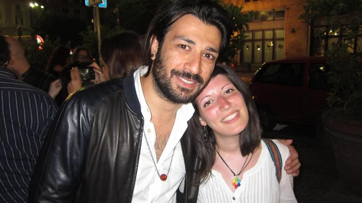 me & mr. Lele :) Napoli, 8 giugno 2013...merci! @negramaro