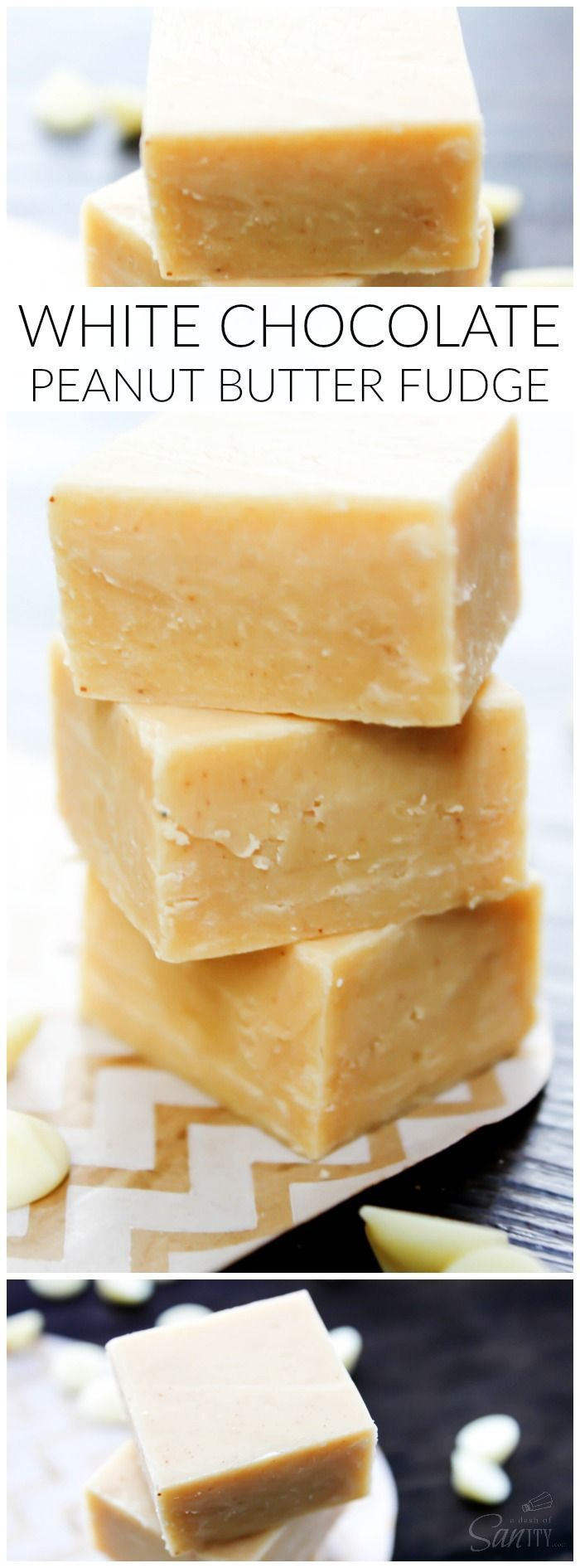White Chocolate Peanut Butter Fudge LONG PIN