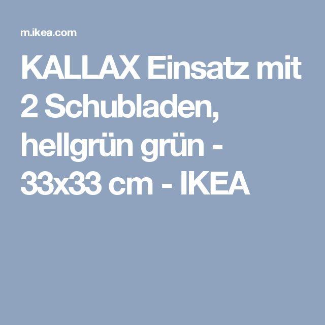 Awesome KALLAX Einsatz mit Schubladen hellgr n gr n x cm IKEA
