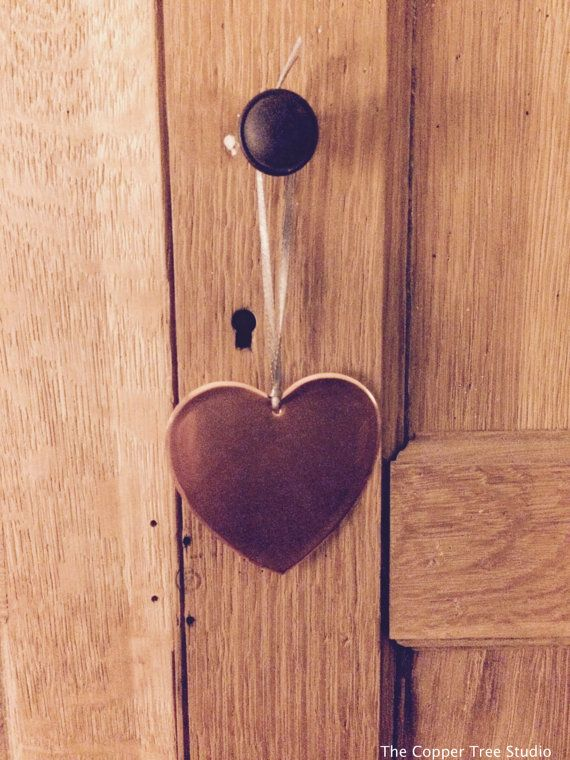 Copper Heart by TheCopperTreeStudio on Easy #wedding #personalisation #personalised #heart #love #copper