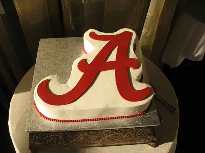 "the Alabama ""A"" cake"