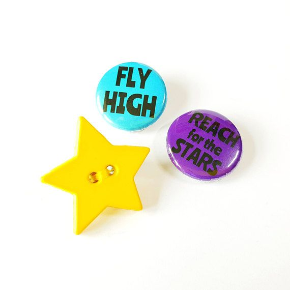 Star Button Brooch Gift Set -   Fly High and Reach for the Stars