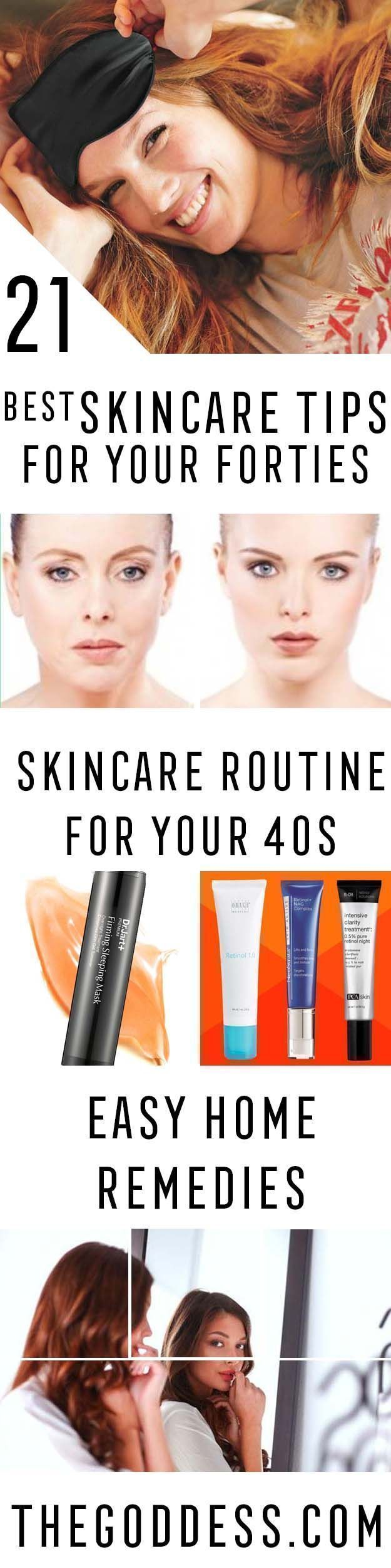 Best Skincare Tips for Your 40s -Check Out These Step By Step, Easy Anti Aging Routines and Skin Care Tips For Women. We Cover Essential Oils, Eye Creams, And Makeup Tips To Help You Stay Looking Younger To Keep That Beautiful Face And Beauty. Anti-Aging Products And Routines That You Can Do At Home To Prevent Wrinkles, Hide Puffy Eyes And Dark Circles, And Cover Acne Scars. Also Included Are Skin Masks, Vitamins, And Skincare Products To Restore Your Natural Beauty And Skin. Look Younger As…