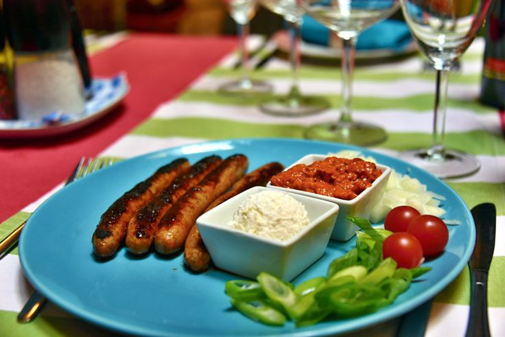 grilované domácí klobásky / Grilled homemade sausages