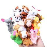 Accmart(TM) Baby Kids Educational Toy Zodiac Signs Finger Puppet Plush Toy (Set of 12)