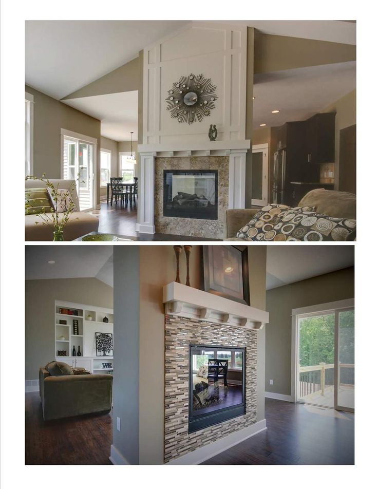 Double sided fireplace and Double fireplace