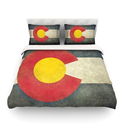 East Urban Home State Flag of Colorado by Bruce Stanfield Featherweight Duvet Cover Size: Full/Queen