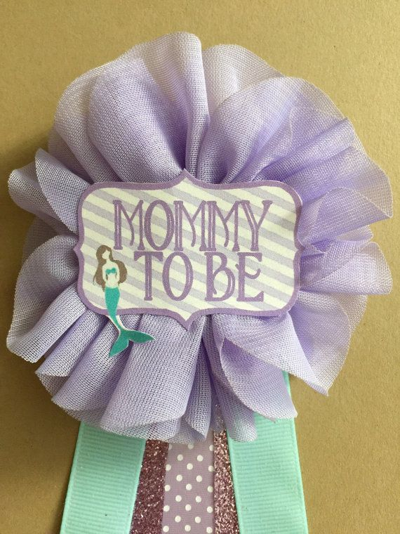 Purple Baby mermaid Baby Shower Mommy-to-be Flower by afalasca