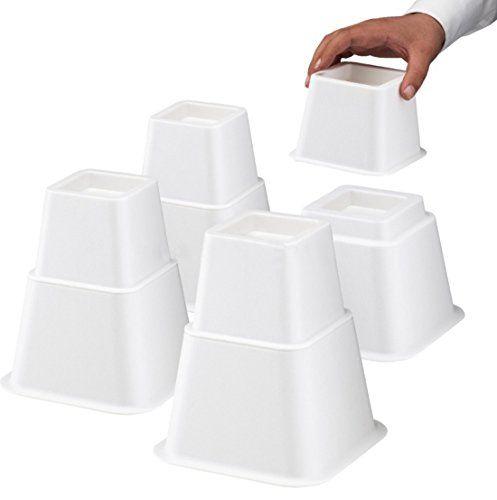 design61Meubles erhöher Hauteur réglable (3hauteurs différentes) Lit augmentation de meubles augmentation de table Pied erhöher éléphant Bed Riser 8ST. (4Haute + 4Court) pour pieds à 68x 68mm en blanc #designMeubles #erhöher #Hauteur #réglable #(hauteurs #différentes) #augmentation #meubles #table #Pied #éléphant #Riser #(Haute #Court) #pour #pieds #mm #blanc