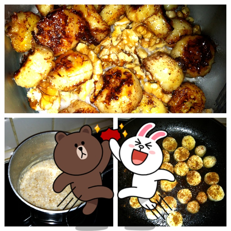 Coconut Fried Cinnamon Bananas with Steel Cut Oats ::. | Recipes ...