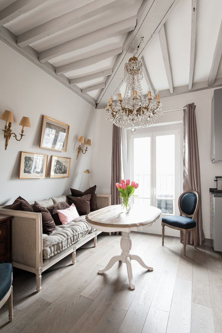 "Parisian studio apartment remodel! Click through to see the ""after"" pictures! - Paris Perfect Blog"