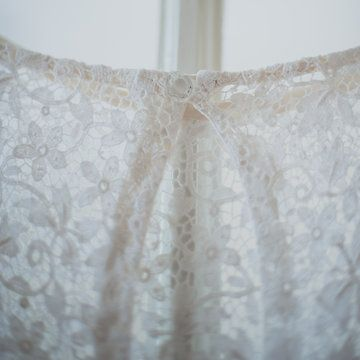 My Vintage Weddingdress from Laura Dols Antieke Trouwjurken Photo from Jacob + Anne collection by Wit Photography