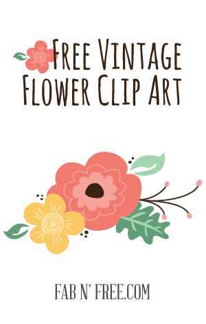 Free Vintage Flower Clip Art A Preview