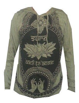 LST Yoga Men Hoodie OM Lotus Nirvana Hindu Ganesh Buddha India Sure Hobo Boho M | eBay