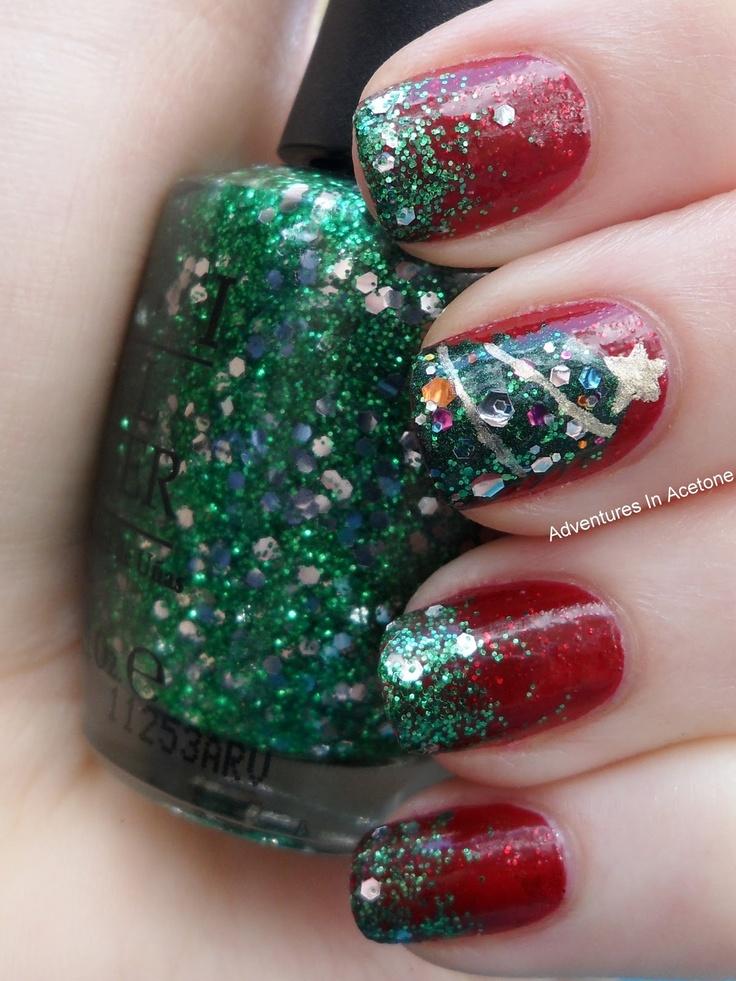 85 best Nail Art: CHRISTMAS images on Pinterest | Uñas de navidad ...