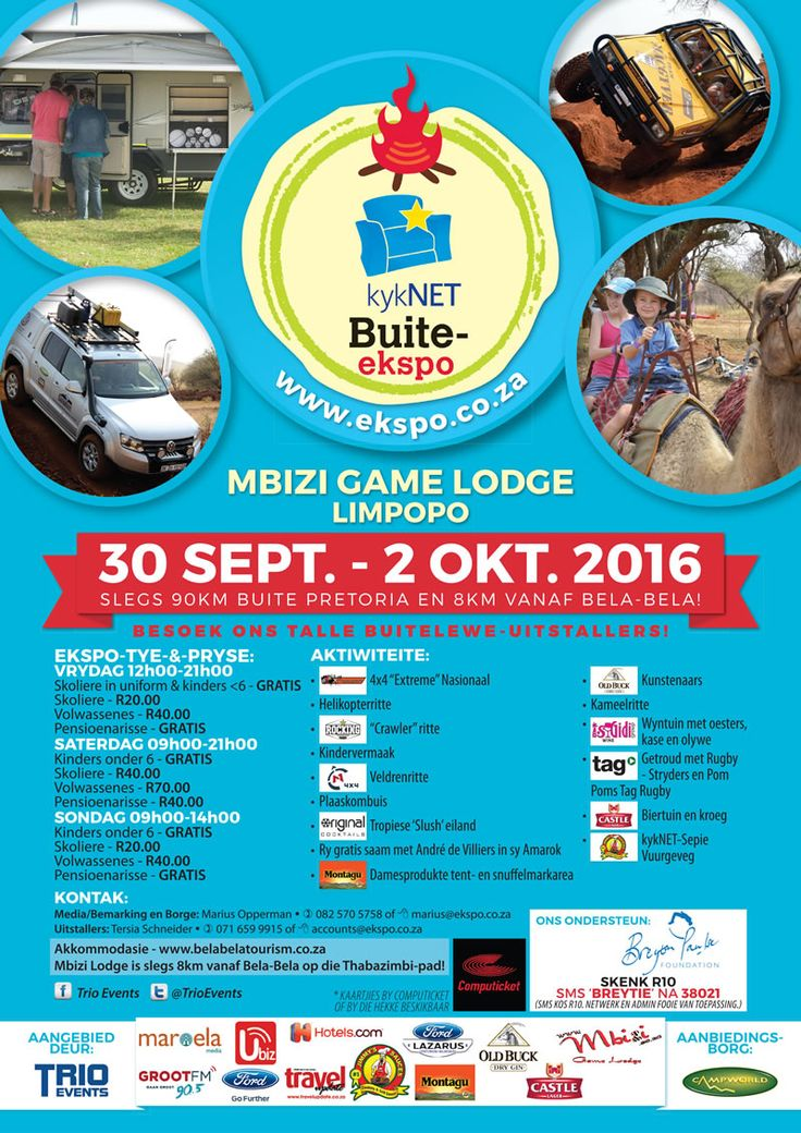 Catch our awesome #TeamMontagu at the kykNET Buite-ekspo in association with @TrioEvents this weekend at @mbizigamelodge!  See you at Stand 230B!