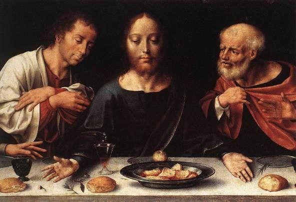 The Last Supper, Joos van Cleve, detail