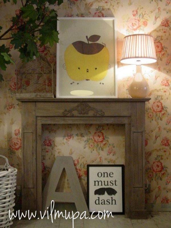 Chimenea rustica de madera vilmupa online tienda de - Muebles de chimenea ...