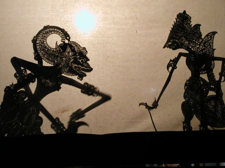 Balinese Shadow Puppets ... Your Papa has some of these!