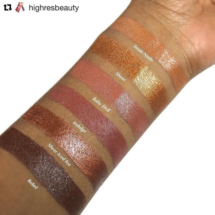 Iman cosmetics lippies... Cocoa Swatches (@cocoaswatches) • Instagram photos and videos