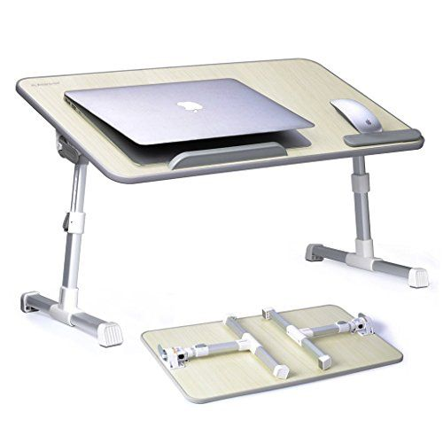 Avantree Adjustable Laptop Bed Table (Large Size) Portable Standing Desk Foldable Sofa Breakfast Tray Notebook Stand Reading Holder for Couch Floor Kids  TB101L