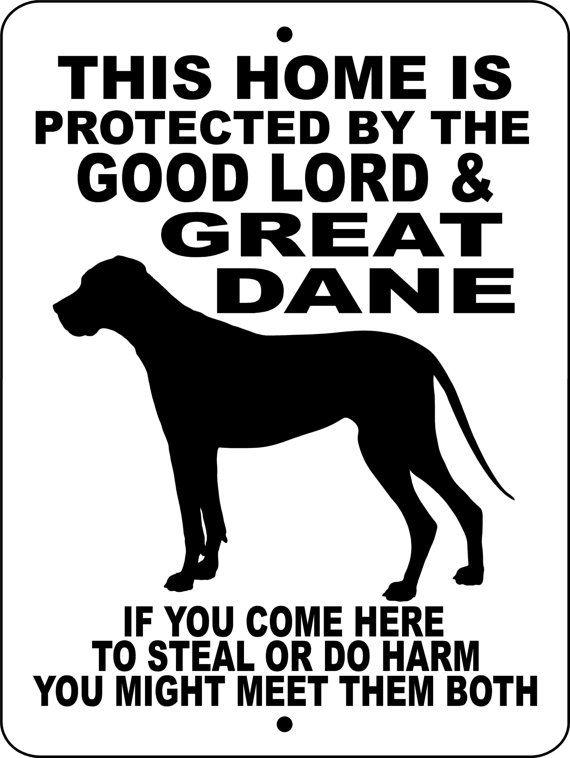 GREAT DANE Dog Sign 9x12 ALUMINUM glgdCEx2 by animalzrule on Etsy