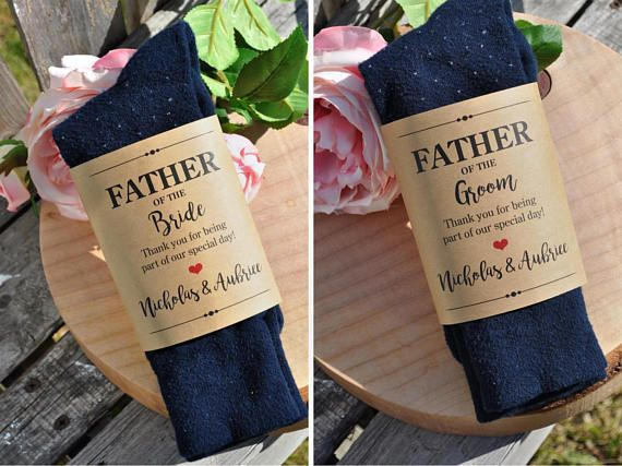 Sock Label DYI Wedding Gift Father of the Bride Father of the Groom Socks Wrapper