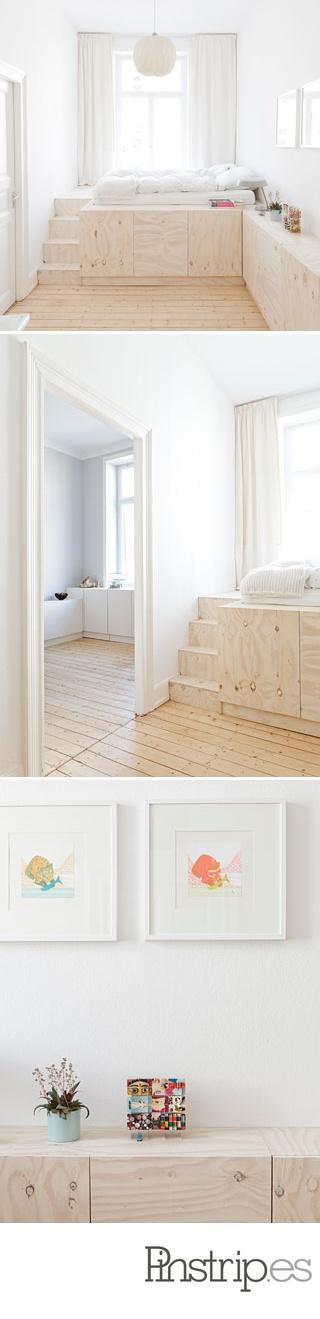 good idea for studio -- Studio Oink lofts storage bed