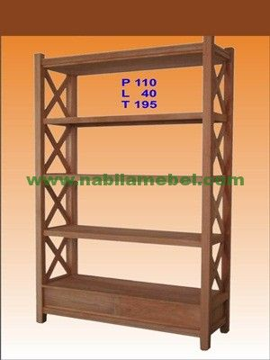 Rak Buku Jari Jari Silang merupakan produk furniture jepara yang diproduksi dengan bahan baku kayu jati berkualitas yang merupakan produk terbaru mebel jepara