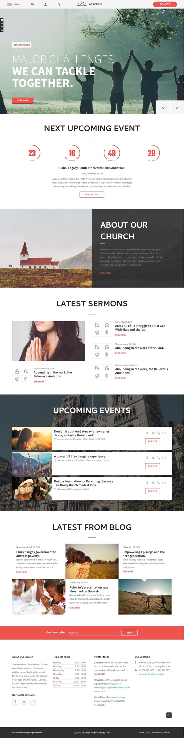 WeBelieve is a fully functional Bootstrap HTML5 Template designed & developed for for #churches, prayer groups, #christian, #charity and non-profit organizations website.