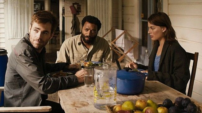 Chris Pine, Margot Robbie & Chiwitel Ejiofor in 'Z For Zachariah' (2015)