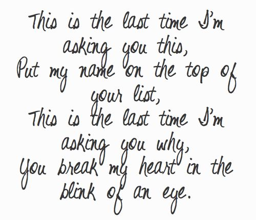 The Last Time - Taylor Swift ft. Gary Lightbody.