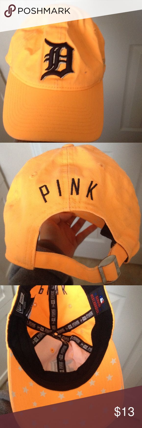 Detroit Tigers PINK Baseball Cap Orange Detroit Tigers PINK Baseball Cap. Only worn once (I am a huge Cubs fan and simply cannot own this anymore). PINK Victoria's Secret Accessories Hats