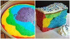 Dieser farbenfrohe Kuchen, der bei Kindern besonders wegen seiner Buntheit gut ankommt, wird in Ostdeutschland als 'Papageienkuchen' genannt.