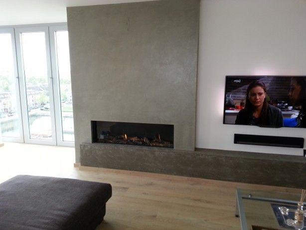 Open haard gecombineerd met tv wooninspiratie pinterest tvs photos and met - Deco moderne open haard ...