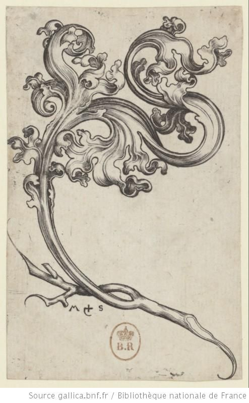 [Rinceau d'ornements] : [estampe] / MS [M. Schongauer] [monogr.] - 1