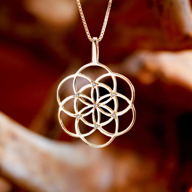 A symbol of blessing, fertility and protection  The seed of life is a symbol for the days of creation. It is treated as a stage in the process of creation of the flower of life - a geometrical shape that symbolizes the whole universe.  The seed of life is used in all religions. It is found in  Synagogues, Churches, Kabbalah books, prayer books, and of course, the ancient Osirian temple in Abydos, Egypt. http://www.ka-gold-jewelry.com/images/products-800//seed-of-life/sol-inlaid-g3.jpg