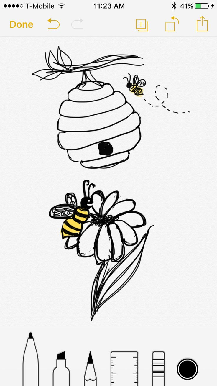 ANOTHER BEE SEMI COLON TATTOO lol a couple cute ideas popped into my head, this one had a bee hive instead of honeycomb honey