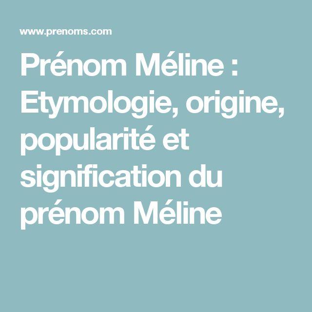 prnom mline etymologie origine popularit et signification du prnom mline